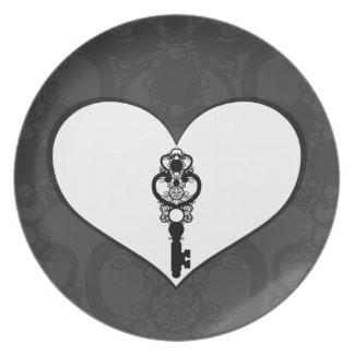 Schlüssel zur Liebe I Party Teller