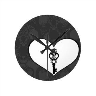 Schlüssel zur Liebe I Wanduhr