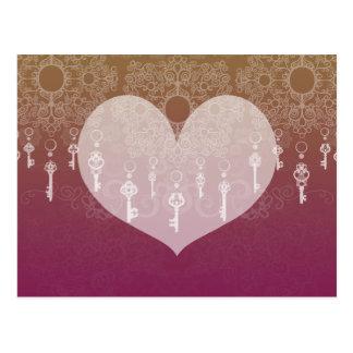 Schlüssel zur Liebe II Postkarte