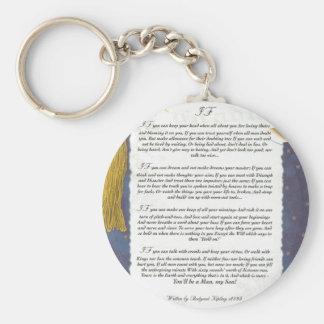 Schlüssel zur Zukunft WENN durch Rudyard Kipling Schlüsselanhänger