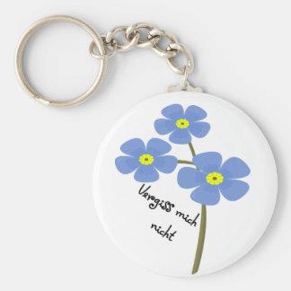 Schlüsselanhänger mit Blumenmotiv