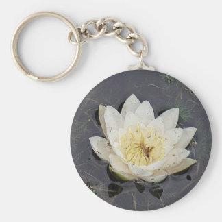 Schlüsselanhänger weisse Seerosenblüte