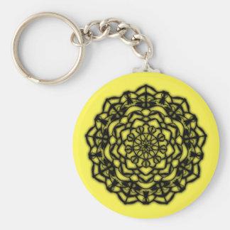 Schlüsselbund gelbe Blume remastered Schlüsselanhänger