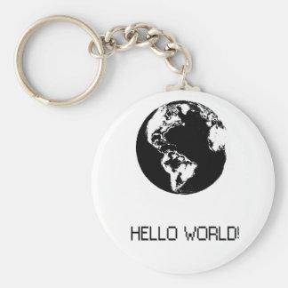 schlüsselbund mit Mitteilung Hallo Welt in der Schlüsselanhänger