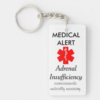 Schlüsselkette der adrenalen Unzulänglichkeit Einseitiger Rechteckiger Acryl Schlüsselanhänger