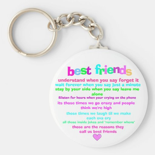 Schlüsselkette der besten Freunde Schlüsselanhänger