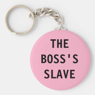Schlüsselkette der Chef; s-Sklave Schlüsselanhänger