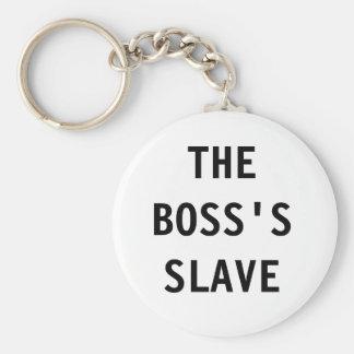Schlüsselkette der Chef; s-Sklave Standard Runder Schlüsselanhänger