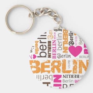 Schlüsselkette deutscher Typografie Berlins Standard Runder Schlüsselanhänger