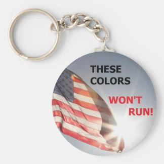 Schlüsselkette, die diese Farben nicht laufen Schlüsselanhänger