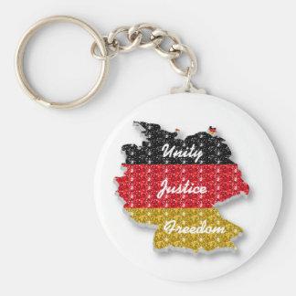 Schlüsselketten-deutsche Flaggen-Einheits-Gerechti Standard Runder Schlüsselanhänger