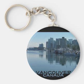Schlüsselketten-Vancouver-Andenken Vancouvers Standard Runder Schlüsselanhänger