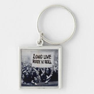 "Schlüsselring kleines Quadrat ""Long Live Rock N Schlüsselanhänger"