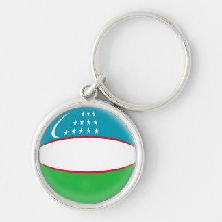 Schlüsselring-Usbekistan-Flagge Schlüsselanhänger