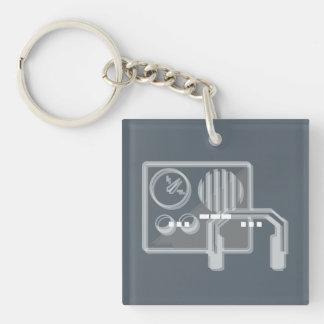 Schlüsselringblau des Morsealphabets PAS Schlüsselanhänger