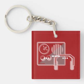 Schlüsselringrot des Morsealphabets PAS Schlüsselanhänger