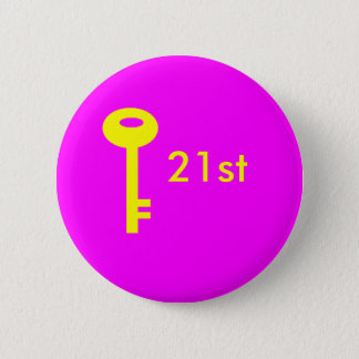 Schlüsselrosa, 21. runder button 5,7 cm