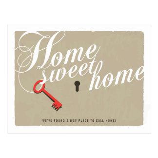 Schlüsselverschluss-neue Postkarte