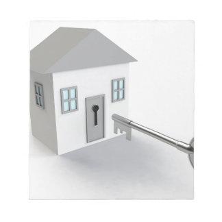 SchlüsselZuhause, wirklicher Anwesen-Agent, Notizblock