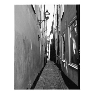 Schmale Straße in Stockholm Flyerbedruckung