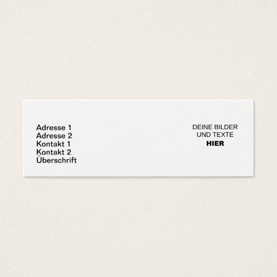 Schmale Visitenkarten Komplett Selbst Gestalten Zazzle De
