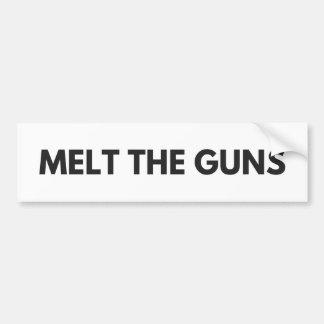 Schmelzen Sie die Gewehre Autoaufkleber
