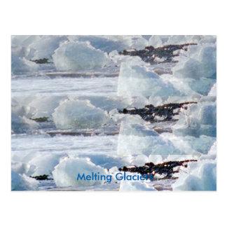 Schmelzende Gletscher-globale Postkarte