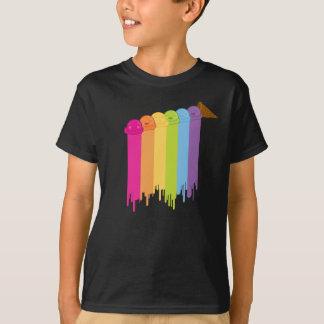 Schmelzender Regenbogen T-Shirt