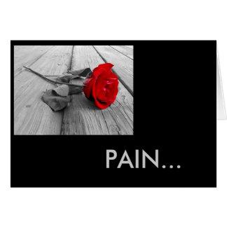 Schmerz Karte