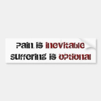 Schmerz und Leiden Autoaufkleber