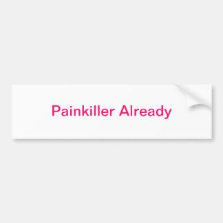 Schmerzmittel bereits autoaufkleber