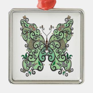 Schmetterling 1 silbernes ornament