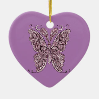 Schmetterling 8 keramik Herz-Ornament