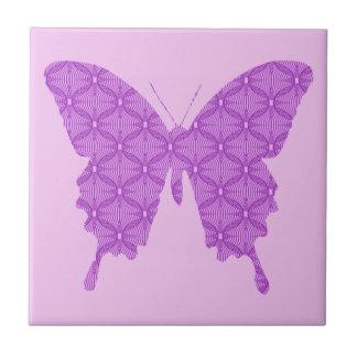 Schmetterling, abstraktes Muster, Lavendel und Keramikfliese