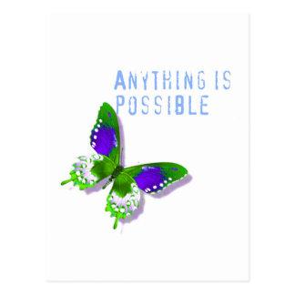 Schmetterling aller ist möglich postkarte