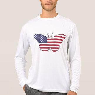 """Schmetterling """"amerikanische Flagge """" T-Shirt"""