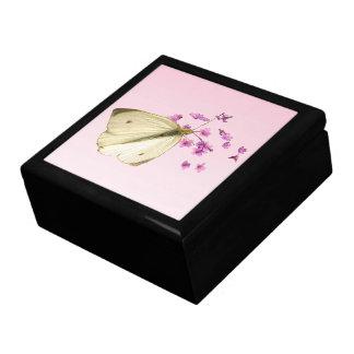 Schmetterling auf Blumen Erinnerungskiste