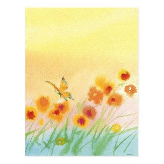 Schmetterling auf dem wilden Gebiet Postkarte