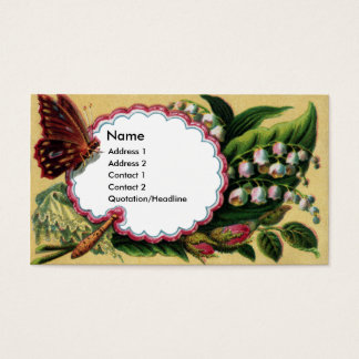 Schmetterling auf Fan-viktorianischer nennender Visitenkarte