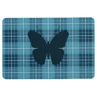 Schmetterling auf karierten Blues Bodenmatte