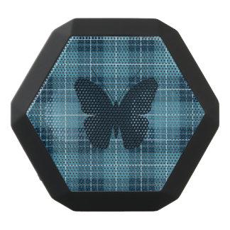 Schmetterling auf karierten Blues Schwarze Bluetooth Lautsprecher