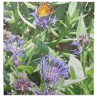 Schmetterling auf lila Coneflower Stoffserviette