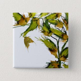 """""""Schmetterling auf Milkweed"""", 2 Zoll-quadratischer Quadratischer Button 5,1 Cm"""