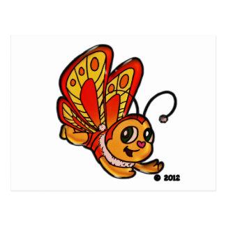 Schmetterling Chloe fördernde Einzelteile Postkarte