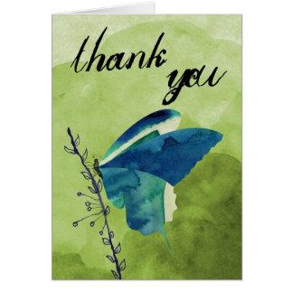Schmetterling danken Ihnen zu kardieren Karte