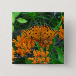Schmetterling der Änderung, der Ermutigung und der Quadratischer Button 5,1 Cm