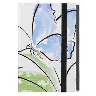 Schmetterling, der auf Gras über Blumenfeld sitzt iPad Mini Schutzhülle