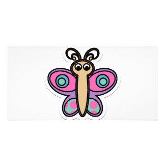 Schmetterling Fotokarte