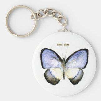 Schmetterling: Grün-Mit einem Band versehenes Blau Schlüsselband
