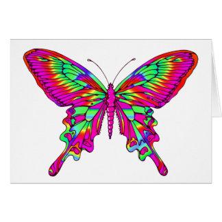 Schmetterling im Pink multi Karte